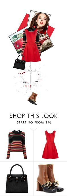 """""""Red dress"""" by noconfessions ❤ liked on Polyvore featuring RED Valentino, Pinko, Prada and reddress"""