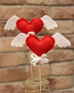 Валентинки из фетра ко Дню Всех Влюбленных. Обсуждение на LiveInternet - Российский Сервис Онлайн-Дневников