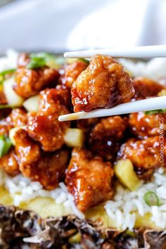 Baked Sticky Pineapple Ginger Chicken | http://www.carlsbadcravings.com/baked-sticky-pineapple-ginger-chicken/