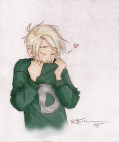 Draco's Weasley Sweater - coloured by CaptBexx on DeviantArt<<< so sweet