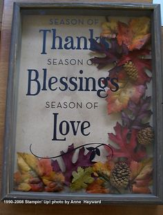 Season of Thanks Shadow Box: