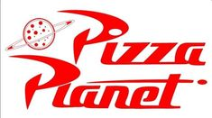 Pizza Planet Logo (saved under my pictures) print and glue onto white pizza boxes. Order Valentino's?