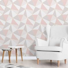 Gold Home Accents Wallpapers - Apex Geometric Wallpaper Rose Gold Fine Decor Gold Luxury Wallpaper, Geometric Wallpaper Rose Gold, Geo Wallpaper, Metallic Wallpaper, Embossed Wallpaper, Modern Wallpaper, Pink Wallpaper For Living Room, Pink Wallpaper Decor, Pink And Grey Wallpaper