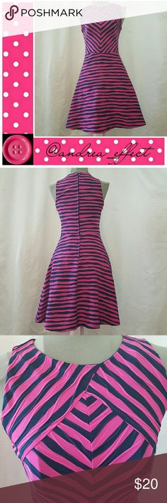 🆕Beautiful Dress!!! Pink & Navy Blue Sleeveless. NEW WITHOUT TAG. Never worn. The picture does nothing for this dress! It's a beautiful fit. Xhilaration Dresses