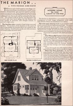 The cottage!  Sears Kit House - Model 1333 - 1936 Marion - Honor Bilt Modern Bungalow