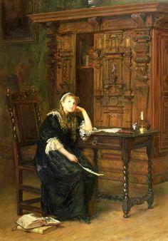 John Everett Millais, Princess Elizabeth in Prison, 1879. ジョン・エヴァレット・ミレイ「幽閉されたエリザベス王女」 ※制作年のソース:BBC
