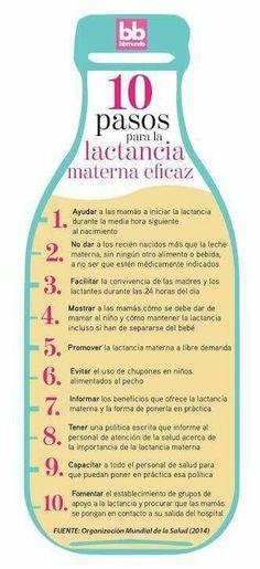 10 pasos para la lactancia materna eficaz.
