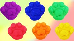 Learn Colors Play Doh Molds Foot - Colours with Foot Finger Family Song ...