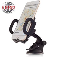 """1 DAY SALE! Car Mount, SHEGO Universal Cell Phones Car Mount Holder 360 Rotation Windshield/ Dashboard for iPhone 6s Plus 6s 5s 5c, Samsung Galaxy S6 Edge Plus S6 S5 S4, Google Nexus 5 4, LG G4 - Looking for the Perfect cell phone car mount?    """"SHEGO"""" Car Universal Holder is the answer for you! Our product is the best, one of a kind car holder – the last one you will ever buy.  Easy one touch car mount that is  Suitable For Any Model Of Smartphone (all ipho"""