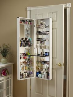 Good White Cosmetic Organizer Armoire/Mirror This Is A Great Idea To Organize  All Your Makeup And Other Little Things
