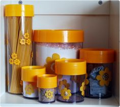 Vintage Erik Kold red plastic spice jar, danish design, midcentury, canister, container.via Etsy.