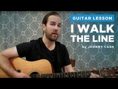 """How to play """"I Walk The Line"""" by Johnny Cash (Guitar Chords & Lesson) Guitar Acoustic Songs, Guitar Strumming, Guitar Tabs Songs, Easy Guitar Songs, Music Chords, Guitar Chords, Fingerstyle Guitar, Acoustic Guitars, Basic Guitar Lessons"""