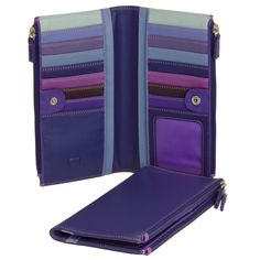 My Walit twin zip in purple and teal  #myessentialmywalit