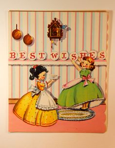 Vintage greeting card,  via Etsy.