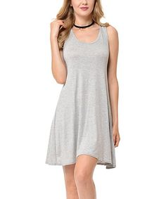 Heather Gray Racerback Dress - Plus