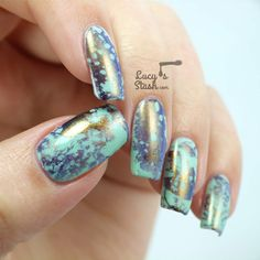 piCture pOlish Monday: Water Spotted Siren... usedDance Legend: Knight for the water spotted technique. Nail art.