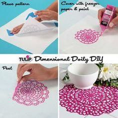 Need a super simple (and fun) summer craft project? Tulip shows how to make an adorable doily out of puff paint!