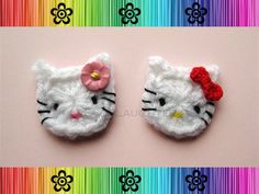 Crochet Cat appliqu� free pattern-something for the nieces.