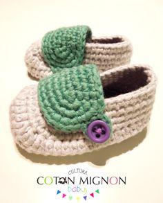Zapatito bebé crochet cultura coton mignon baby Tutorial