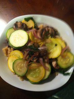quinoa and sauteed veggies