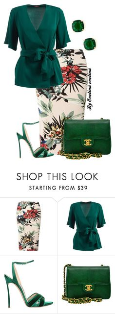 """EVE"" by evelina-er ❤ liked on Polyvore featuring Dorothy Perkins, WtR, Casadei, Chanel and Kate Spade"