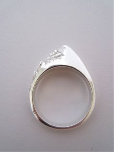 Mountain Range Ring by Caitlyn Purcell (Caitlyn Rose on Etsy).
