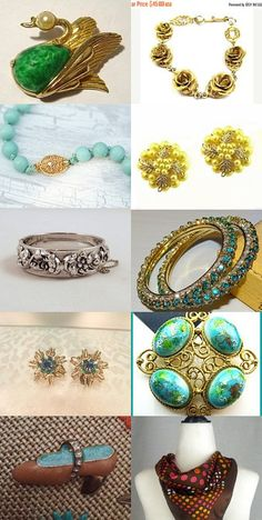 #Vintage October Finds Fashion Jewelry and More Great vintage finds from Etsy sellers with a nod to vintage jewelry, collectibles and fashion.  Stop in and see these for some great buys! #vintage #teamlovegroup #vogueteam