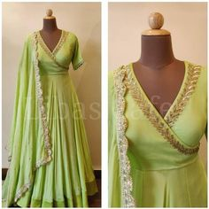 Indian Fashion Dresses, Indian Gowns Dresses, Dress Indian Style, Indian Designer Outfits, Indian Long Gowns, Fashion Clothes, Women's Fashion, Fashion Tips, Designer Anarkali Dresses