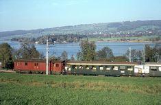 Bild 1878, SBB, Mosen, Hallwilersee, Personenzug mit De 4/4, Aufnahme 1967