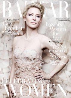 Cover UK Harper's Bazaar December 2013 Feat Kate Blanchett By Ben Hassett