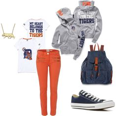 Detroit Tigers Outfit <3 Love it, want it, have to have it...
