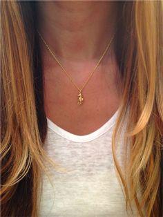 Tiny Seahorse Necklace via Etsy
