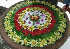 Floating Flower Water Rangoli Decoration
