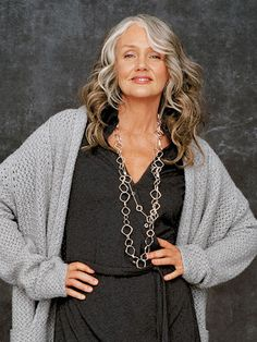 Model Cindy Joseph went prematurely gray and didn't start a successful modeling career until she was 48.  You go girl!
