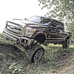 jacked up big trucks Big Ford Trucks, Trucks Only, Lifted Ford Trucks, Diesel Trucks, Cool Trucks, Pickup Trucks, Truck Rims, Future Trucks, Custom Trucks