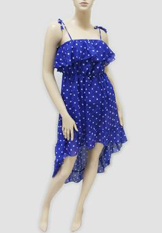 MIDI DRESSES -- DOUBLE LAYER POLKA DOT DRESS -- Item Information: This Girls Dress is made of high quality material. Unique design, attract more attention. Package(6 Piece), 4 assorted colors