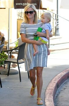 Reese Witherspoon & Son Tennessee Out For Lunch In Brentwood | find matching styles at meNmommy.com