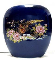 Vintage Cobalt Blue Oriental Motif Small Vase by sweetie2sweetie, $8.99