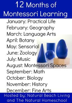 12 Months of Montessori Learning - Natural Beach Living - http://www.oroscopointernazionaleblog.com/12-months-of-montessori-learning-natural-beach-living/