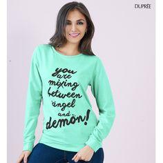 Un look moderno. #moda #estilo Dupree Colombia Graphic Sweatshirt, Sweatshirts, Sweaters, Fashion, Colombia, Moda, Fashion Styles, Sweater, Trainers