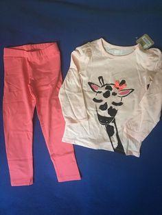 NWT Gymboree 4T Girl's Two Piece Giraffe Outfit Set #Gymboree