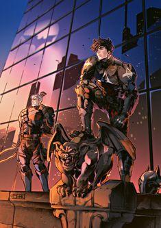 Arkham knight fan art by JJMK Batman Arkham Knight, Bane Batman, Batman Arkham Origins, Batman Comic Art, Batman Arkham City, Batman Robin, Gotham City, Batman Fan Art, Funny Batman