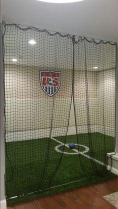 Basement soccer …