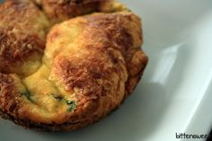 bacon and spinach egg souffle.a tad obsessed with Panera's souffle Spinach Souffle, Egg Souffle, Panera Souffle, Spinach Egg, Brunch Recipes, Wine Recipes, Breakfast Recipes, Cooking Recipes, Breakfast Souffle