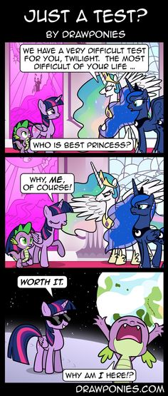 Comic: Just a Test? by drawponies.deviantart.com on @deviantART