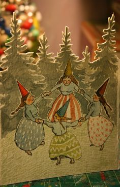 Gnome Dancer card-- PHOEBE WAHL --