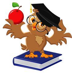 Owl holding an apple vector image on VectorStock Owl School, Book Clip Art, Apple Vector, Owl Classroom, School Clipart, Owl Pictures, Beautiful Owl, Owl Crafts, Owl Patterns