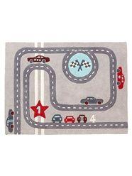 Alfombra 'circuito de carreras' para niño tema Rallye party