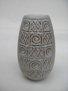 West German Pottery Vase Fat Lava Retro Vtg Jasba Ceramic Mid Century Modern