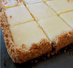 Creamy lime squares with pistachio, biscuit crust